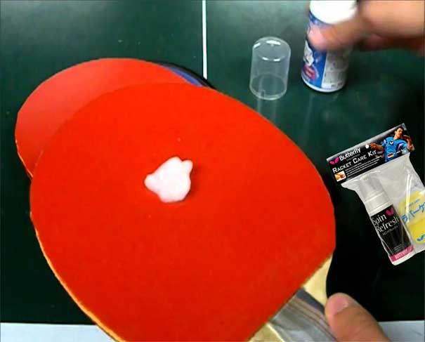 clean ping pong paddle