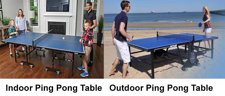 indoor vs outdoor ping pong table