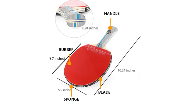 parts of ping pong paddle